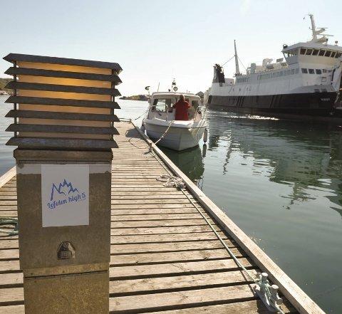 Treningstur: Også på Skrova er Lofoten High5 Svolvær markedsført, så ta båten og dra til Svolvær for treningstur 6.  juni. Foto: Knut Johansen