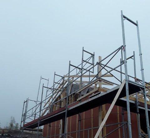 RIKTIG: Slik så det ikke ut da Arbeidstilsynet besøkte byggeplassen.