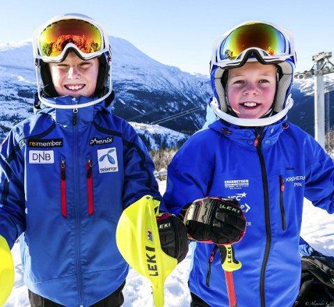 Gleder seg: Daniel og Martin skal på treningssamling med OL-kongen Kjetil Andre Aamodt.
