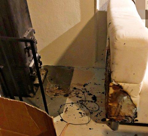 GIKK UTROLIG NOK BRA: Hadde brannen fått utvikle seg ville det fort blitt en husbrann.