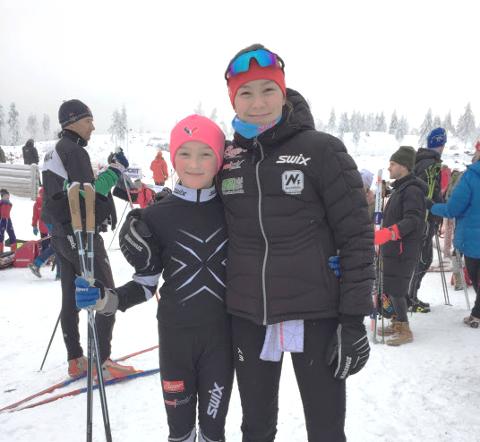 Mia Minge Johannesen og Maja Ellefsrud gikk gode skirenn på Lygna.