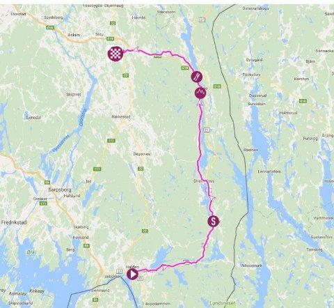 FREDAG: Den første etappen i LToN 2017 går fra Halden til Mysen gjennom Tistedal, Aremark og Ørje. Start på Kongens brygge klokka 15.20 på fredag.