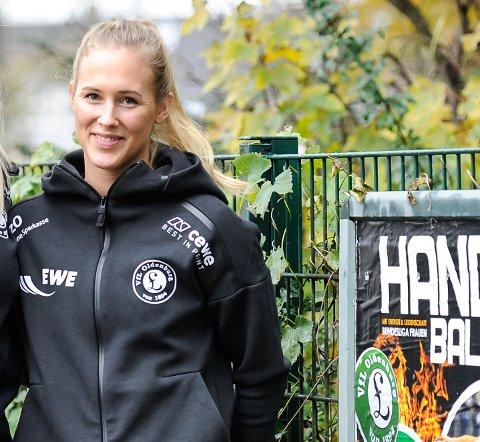 FORTSATT I TYSKLAND: Bundesliga er avlyst, men håndballspiller Malene Staal er fortsatt i Oldenburg. Hun håper å komme seg hjem en gang i løpet av mai.
