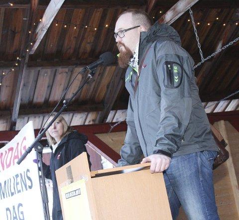 KRITISK: Leder Stian Nordal Jensen er leder i LO Mosjøen og omland.