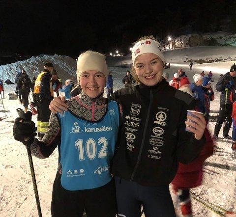 Helena Dalen og Sunniva Tveitan fra Kjosen IL var fornøyde. Se flere bilder ved å sveipe eller klikke mot høyre.