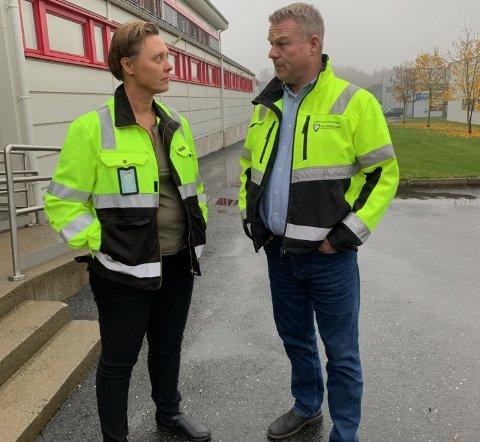 FORBEREDT: Gry Larsen og Lars Erik Andersen er forberedt på værskiftet.