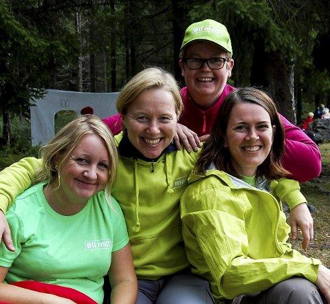 Bli med! drives av (fra venstre) Hege Svendsen, Monica Flage, Gunn Tomren (bak) og Tanja Bjerkaas Olsen.