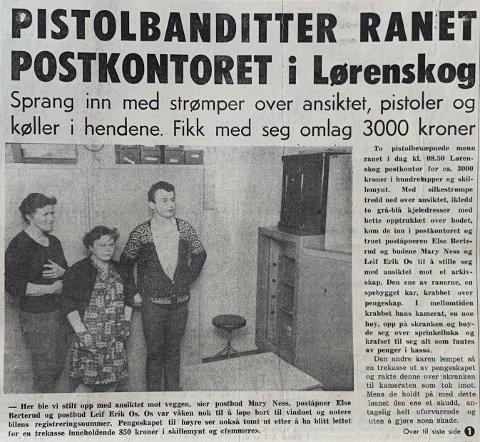 1970: Faksimile fra Romerikes Blad tirsdag 10. mars 1970.