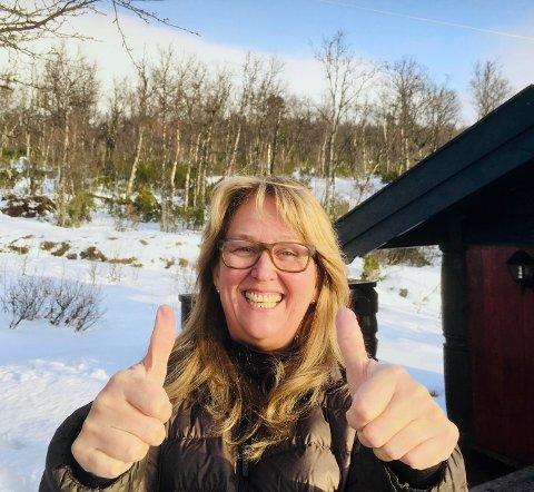 JUBEL PÅ HYTTA: Christin Normann var på hytta da hun fikk gladmeldingen.