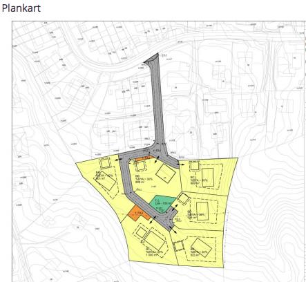 STORE TOMTER: Forslagstillere er Pia og Nicolai Høigård ønsker å bygge fem nye eneboliger med nær ett mål tomt hver rundt den eksistrende boligen i Kjul terrasse 26. Formannskapet har sent forslaget ut på høring med seks ukers frist for innspill.