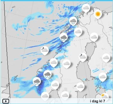 VÅTT: Sørlege og indre delar av Sogn og Fjordane får det våtast i dag. Det skal regne mest om ettermiddagen.