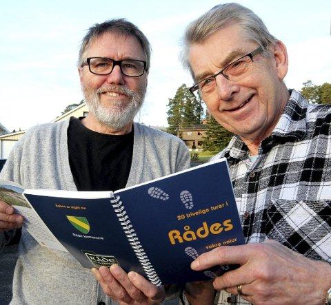 Skrevet bok: Eigill Tangen (t.v)  og Inge Johansen har gått opp gjengrodde stier i Råde.