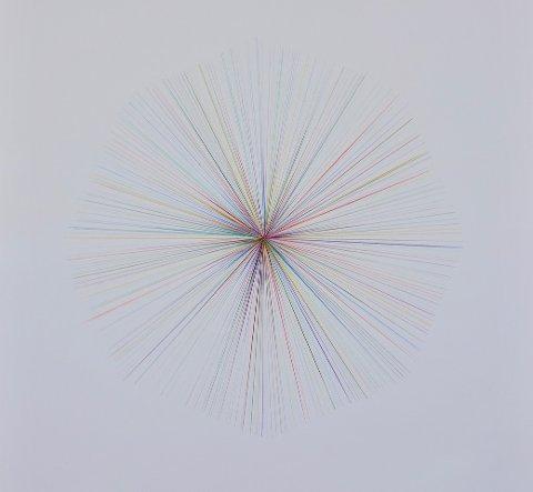 Tegninger: Charlotte Bergesens tegninger preges av nøyaktige og strikte former.