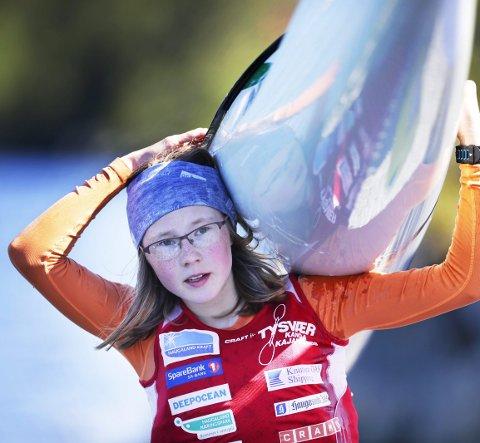 VANT: Elise Erland vant NM i maratonpadling for juniorer.