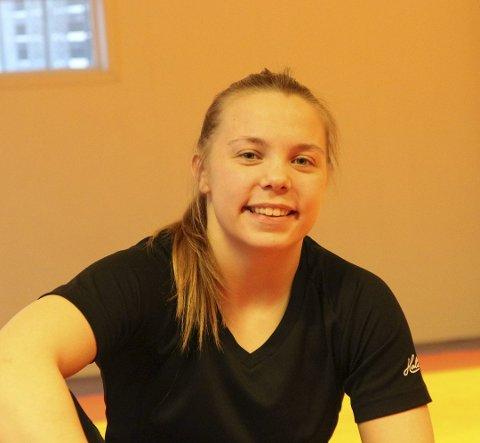 KLAR FOR EM: Gunn Rita Boine fra Tana bryteklubb er klar for å kjempe om medalje i junior-EM i bryting i Tyskland førstkommende fredag.