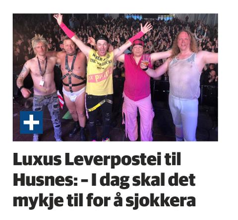 Saka om Luxus Leverpostei som spelar konsert på Husnes komande laurdag vekte merksemda til komikarane i Morgenklubben med Loven & co.