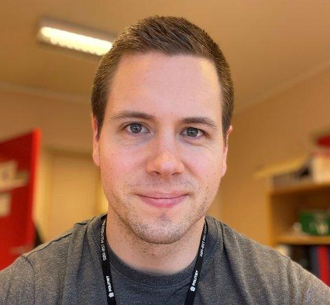 UTFORDRER: Tillitsvalgt Andreas Kvammen utfordrer Trygve Slagsvold Vedum om politireformen.