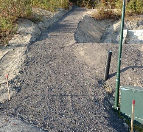 SÅ SLIK UT: Stien så slik ut etter at stien ble utbedret i 2014.