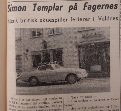 Helgenen var på besøk, ville vi ha leserne til å tro i 1965.
