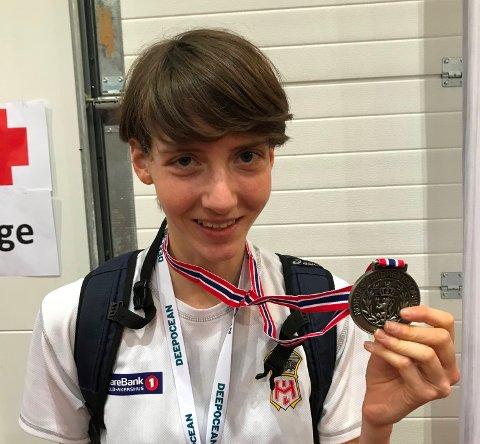 TO SØLV: Tessa Frenay har levert bra under helgens innendørs-NM i friidrett.