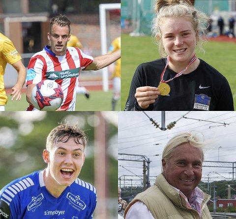 Disse fire lokale profilene har lite med hverandre å gjøre, men alle blir behørig omtalt i den nye episoden av Sportsprat. Øystein Lundblad Næsheim, Henriette Jæger, Jørgen Strand Larsen og Atle Pirat Hansen.