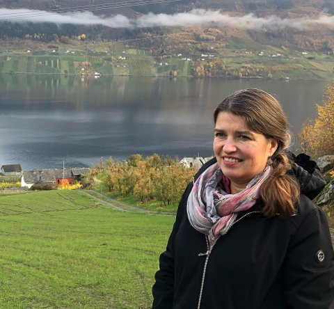 Liv Kari Eskeland i Ullensvang. Foto: Gunnar Moland, Høgre