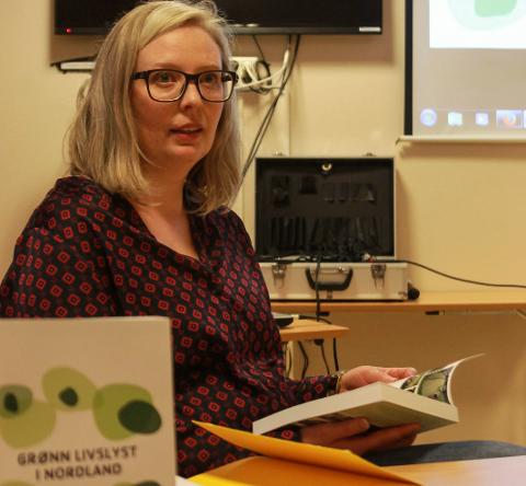 """Marte Henriksen leser fra boken """"Grønn livslyst i Nordland"""""""