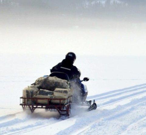 Tillatelse: For å kunne kjøre snøscooter i utmark må man ha spesiell tillatelse. Illustrasjonsfoto