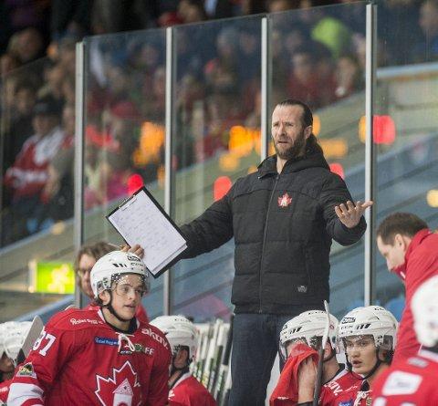 Ett poeng: Trener Pål Erik Glomsaas og resten av Bergen Hockey fikk bare med seg ett poeng fra dobbeltkampen mot Comet i Halden. Arkivfoto: