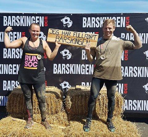 Terese Nilsen og Hans-Erik Folkeseth fullførte Barskingen.
