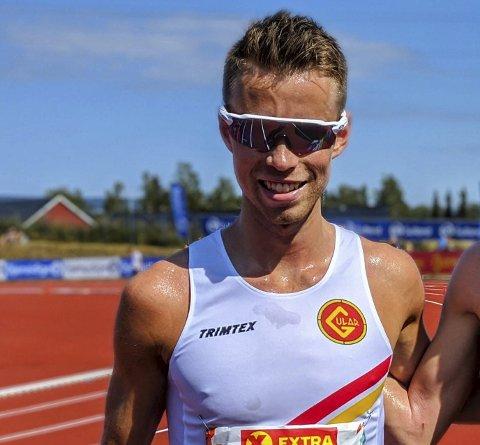 Etter målgang: Martin Finne hadde grunn til å smile. Foto: Gustav Vasdal