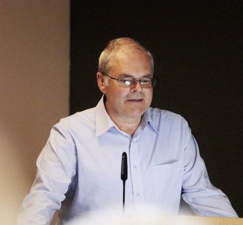 Logistikksjef hos ASKO, Kai Just Olsen, forteller at Holmestrand er fortsatt aktuell som havn for de elektriske dronene.