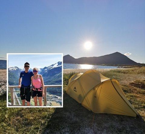 Helene Irgens Sjo og Jon Mikkel Prestegård gifta seg i juni, og la bryllaupsreisa til Lofoten i bil.