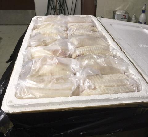 BESLAGLAGT: Tollerne ved den finsk-norske grensestasjonen i Karigasniemi beslagla i påsken totalt 758 kilo fisk som ble forsøkt smuglet ut av Norge.