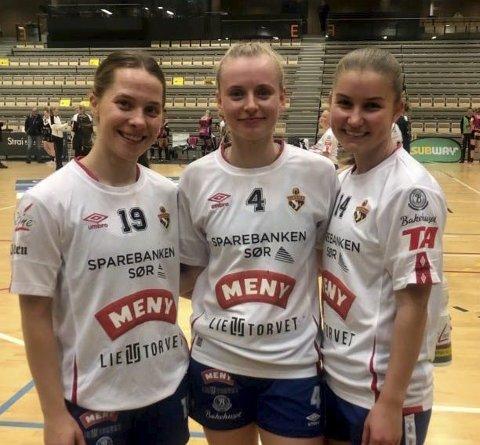 BAMBLINGENE: Mathilde Knutsen, Anna Klausen Jacobsen og Guro Lien røneid.
