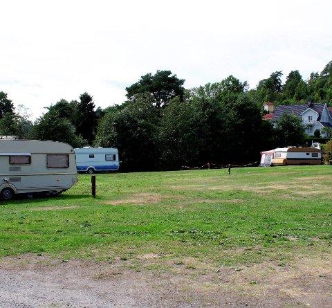 Merkes: Campinggjestene merker at det festes på Olavsberget. Arkivfoto