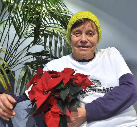 Rørt: Anita S. Brevik ble rørt til tårer da hun mottok TKs julestjerne for sin innsats på Dalen gård.