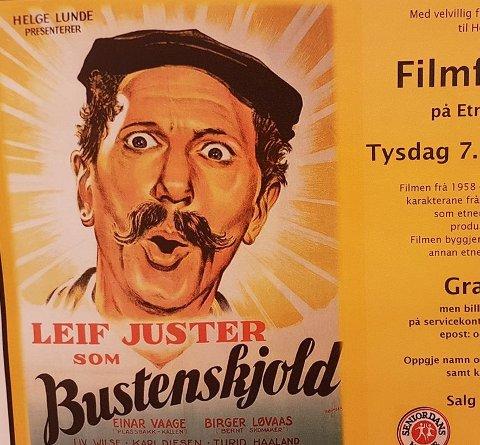 Forviklinger: Tirsdag 7. november vises Bustenskjoldfilmen på samfunnshuset i Etnedal, med Leif Juster som Jens von Bustenskjold.