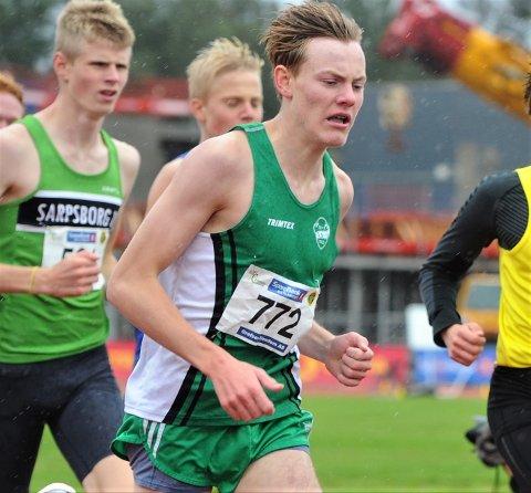 NY PERS: Ole Jakob Høstland Solbu satte nye personlig rekord på 800-meter med tiden 1.51,10 udner et løp på Bislett stadion sist onsdag.