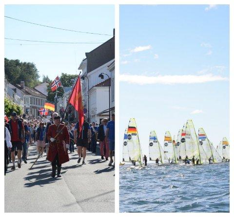 Bilder fra åpningseremonien, og fra første dagen med seilas i Kistnesgrunnen utaskjærs for Stangholmen.
