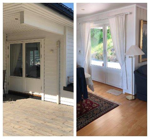 Det var onsdag ettermiddag at to menn prøvde å ta seg inn i eneboligen i Granveien via verandaen.