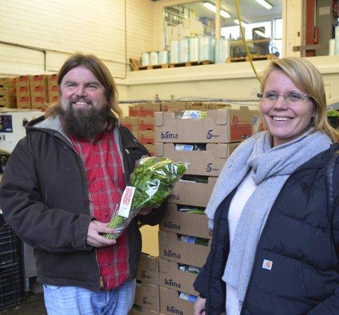 REGIONAL VINNER: Bjørge Madsen og Kristin Stenersen har med Skjærgaarden Gartneri bygget egen merkevare blant annet for løk.
