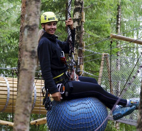 Parkleder: Jannicke Haug er fornøyd med besøket på Klatring på Grensen i sommer.