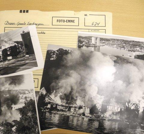 Hendelser: I arkivet er det mange bilder fra ting som har skjedd i Halden. Her brann i Ankerbua på Gamle Sørhaugen 10. oktober 1979.