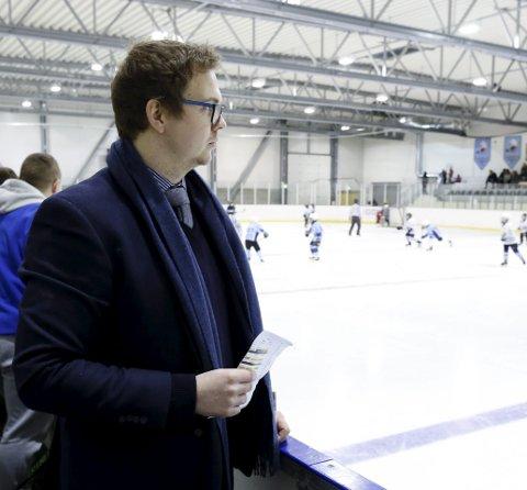 FORNØYD: Sportslig ansvarlig og trener i Haugesund Ishockeyklubb (Seagulls), Christoffer Ruud.