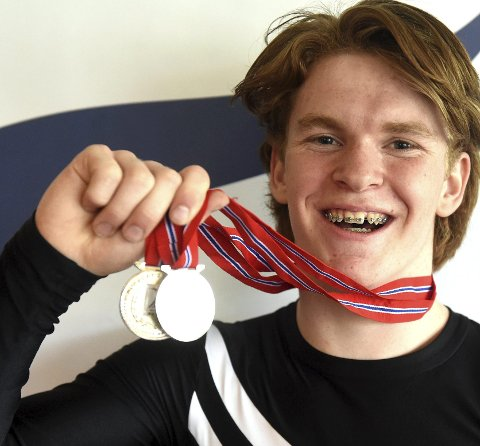 BRONSE: Mathias G. Pedersen var på Norges juniorlag som fikk bronse i EM i troppsgymnastikk.