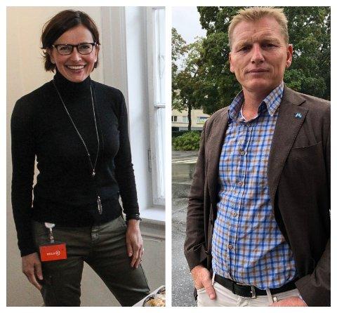 HUSKLARE: Både Unni Heimdal og Kai Mikaelsen følger nøye med på diskusjonen om plasseringen av et nytt kulturhus i Gjøvik.