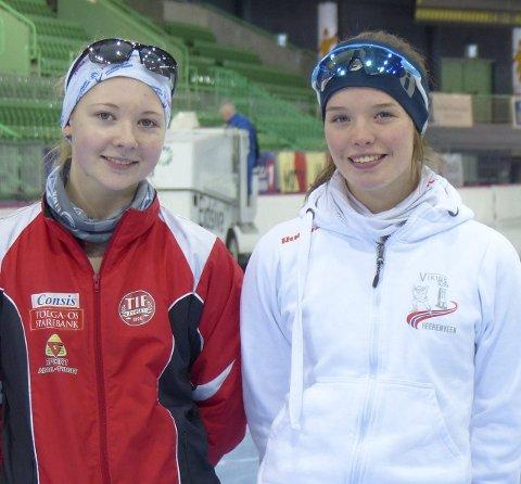 Kvalifisert: Oda M. Lund til venstre og Synne B. Moen til høyre skal representere Norge i Viking Race i Nederland. (Foto: Privat)