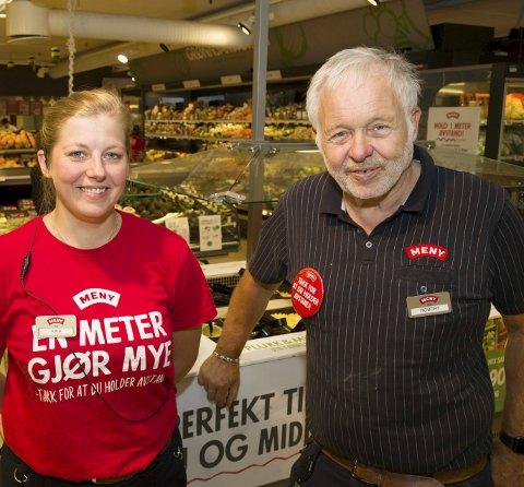Kaia Aspenes Mathisen overtar som kjøpmann på Meny: Robert Christiansen fortsetter som eier og i butikken.