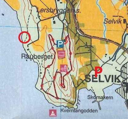 Kartutsnitt: Den røde ringen viser hvor posten befinner seg.